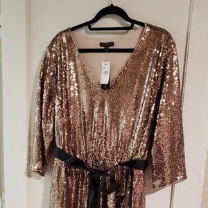 Rose gold sequin
